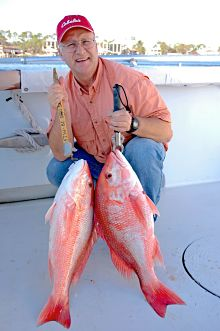 John E. Phillips with red snapper