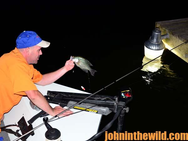 Learn to fish the right place and use lights to catch for Crappie fishing at night