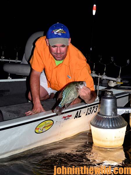 learn to fish the right place and use lights to catch crappie at, Reel Combo