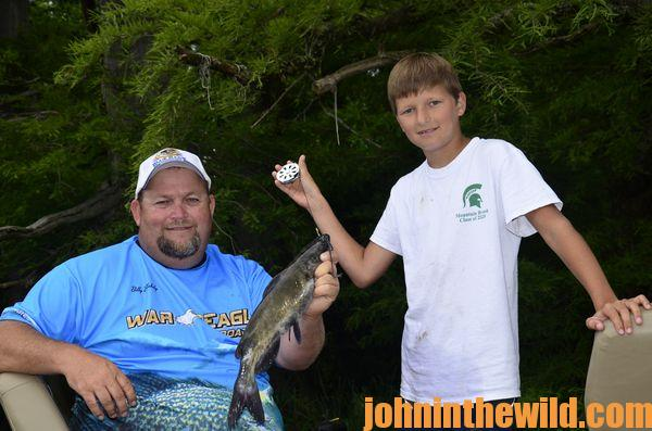 Beginning Fishermen at Tennessee's Blue Bank Resort Can be Successful Catching Catfish07