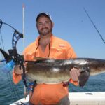 Shooting a World's Record Cobia While Bowfishing