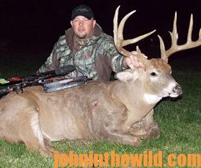 Buck Hauser with a big buck