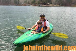Two kayakers out on the water