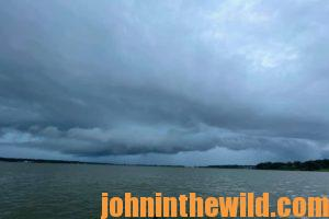 Clouds roll in over Lake Eufaula in Alabama