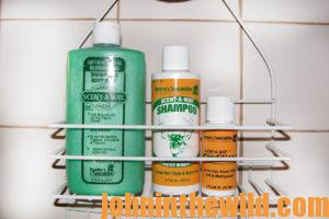 Scent-Away body soap, shampoo, and conditioner